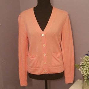 J. CREW bright pink button up cardi